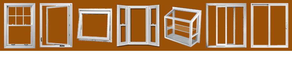 Double-hung, Casement, Awning, Bay and Bow, Garden, Sliding, and Patio Door