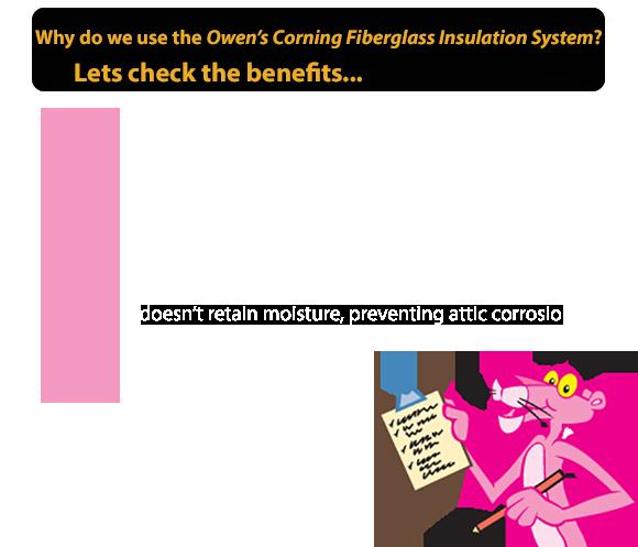 Benefits of fiber glass insulation