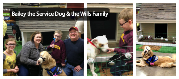 Bailey the Service Dog & the Wills Family