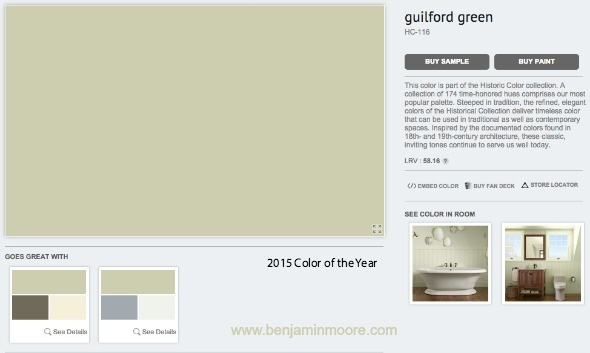 Benjamin Moore 2015 Color of the Year
