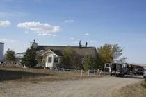 The HWC crew repairs the roof at Creative Acres animal sanctuary