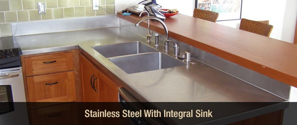 Stainless Steel Integral Sink