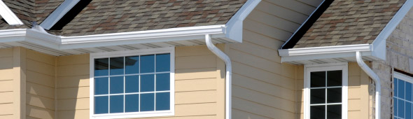 Seamless Gutters On A House