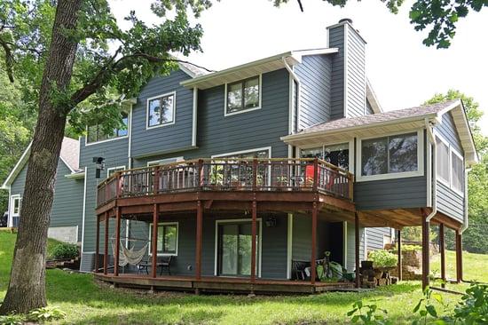 house siding deck