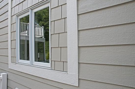 wood siding window trim