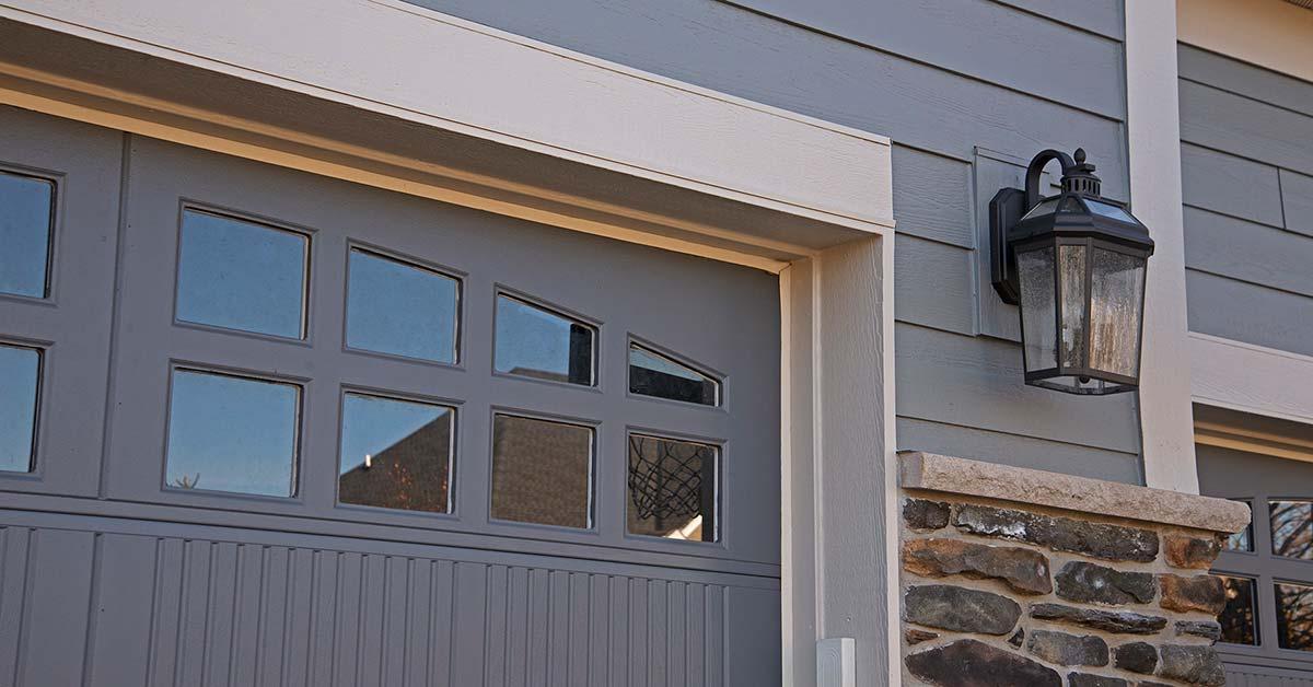 James Hardie Siding, Garage Door, and Stone Accents