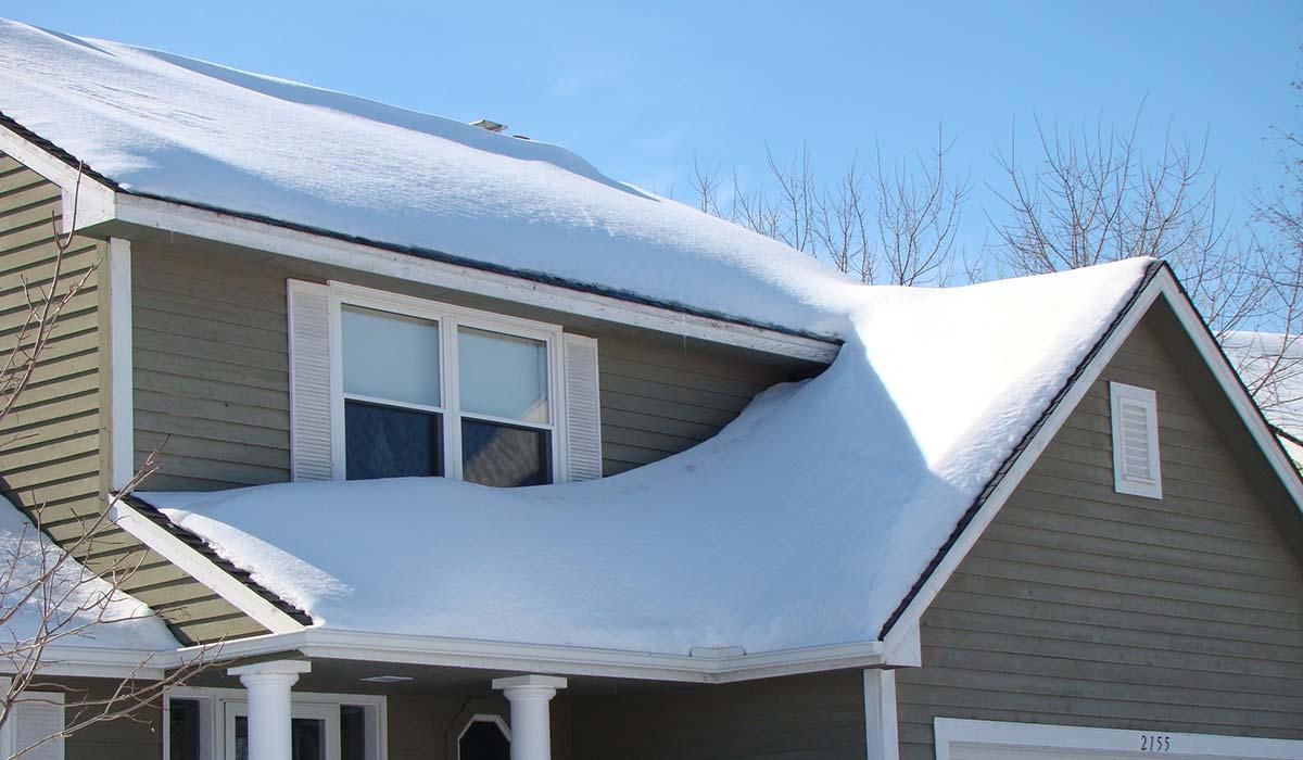ICE DAM SNOW