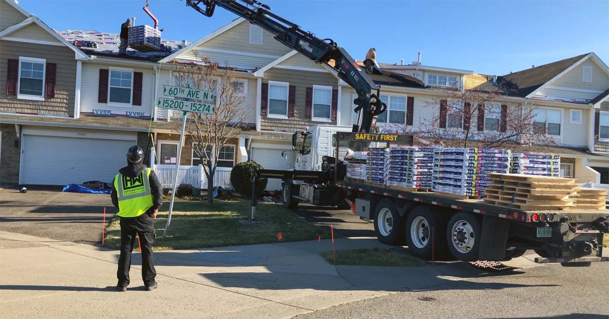roof loading shingles