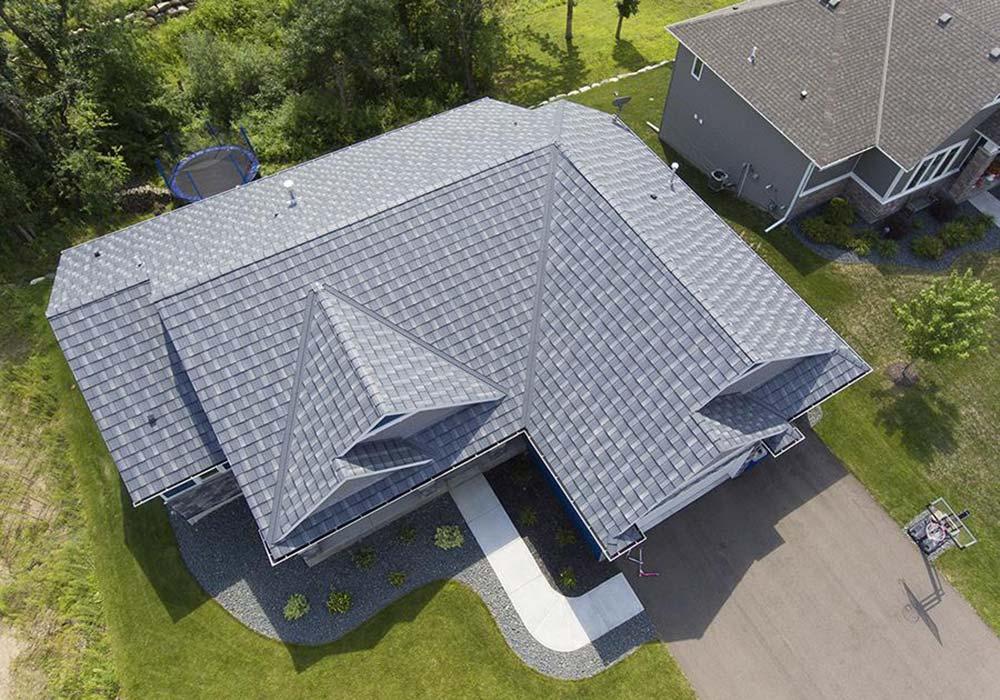 EDCO Roofing Infiniti Textured Shake Granite Gray Enhanced