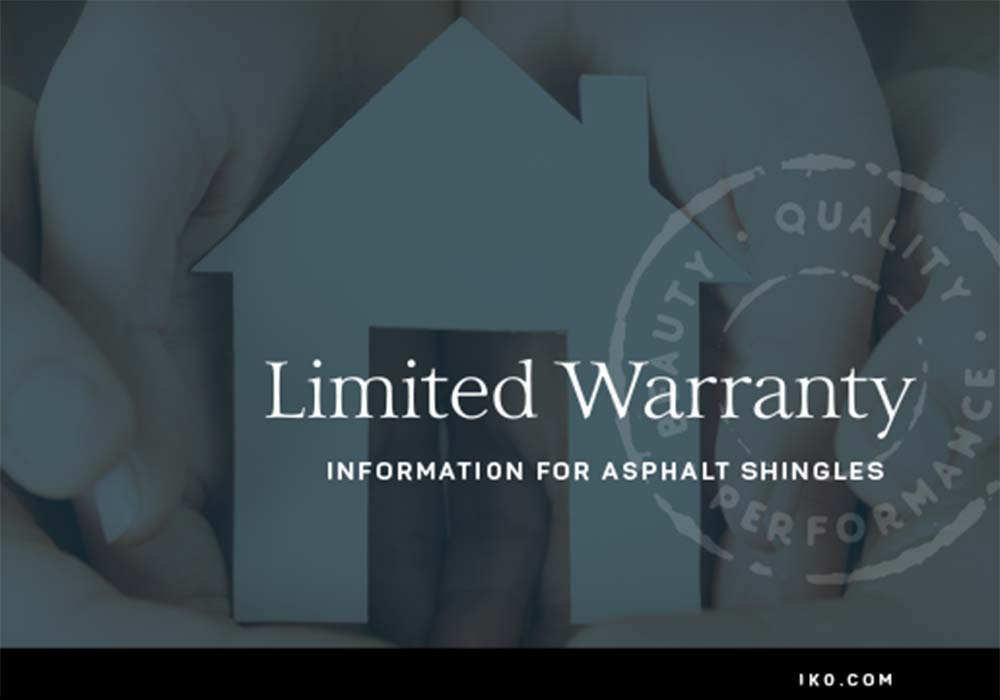 IKO Limited Warranty Booklet