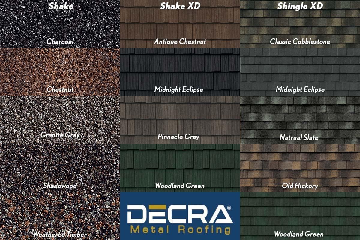 DECRA Metal Roofing Colors