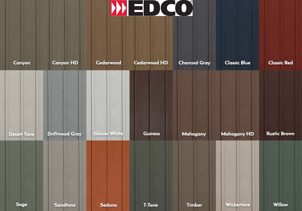 EDCO Siding Board and Batten Swatches
