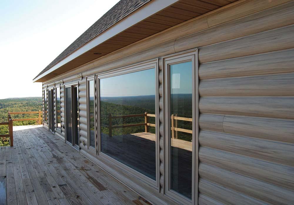 Kaycan Vinyl Siding Montebello Insulated Log Siding Vermont Maple