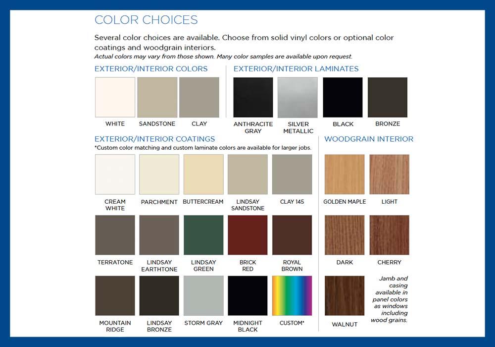Lindsay Windows Pinnacle Color Choices
