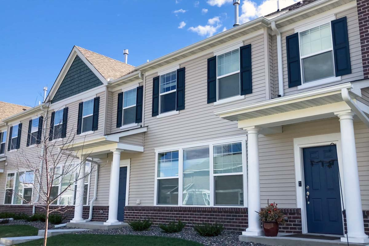 Townhomes Roofing, Siding, Windows Replacement <small>Blaine, MN</small>