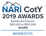 2019_Chapter CotY Awards_Minnesota_Residential Exterior -$50,000 to $100,000_Color_Silver