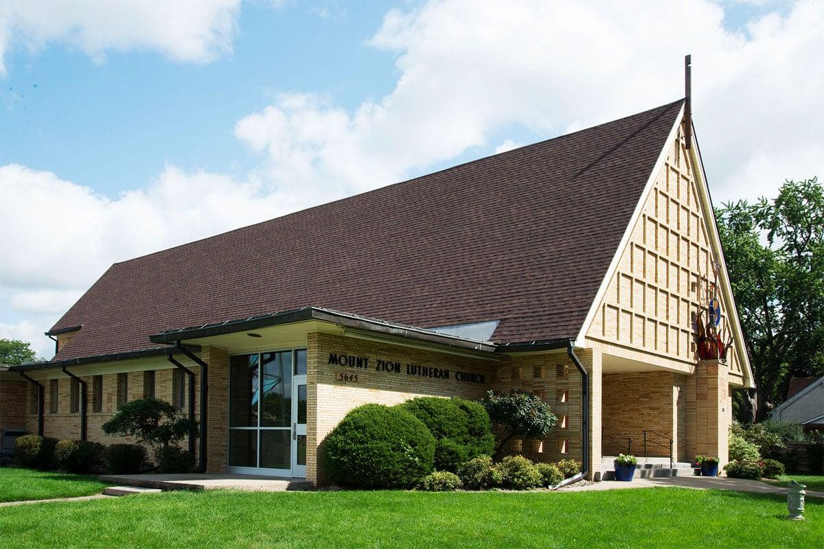 Church shingle roof