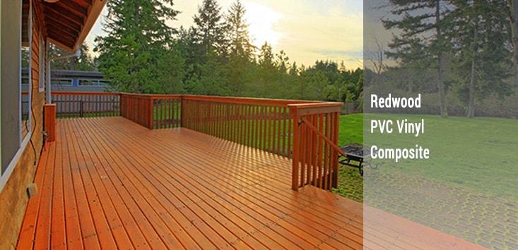 decks - redwood, vinyl, composite