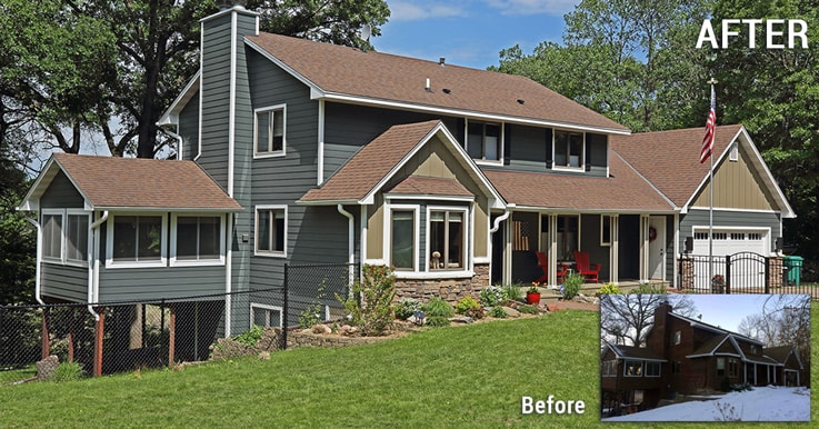 exterior before after
