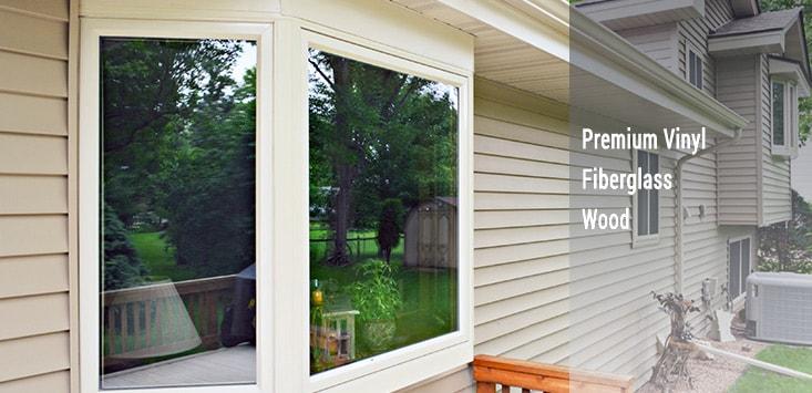 windows - vinyl, fiberglass, wood