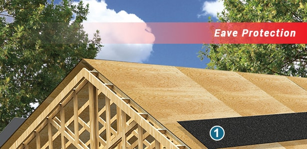 roofing system component eave protection