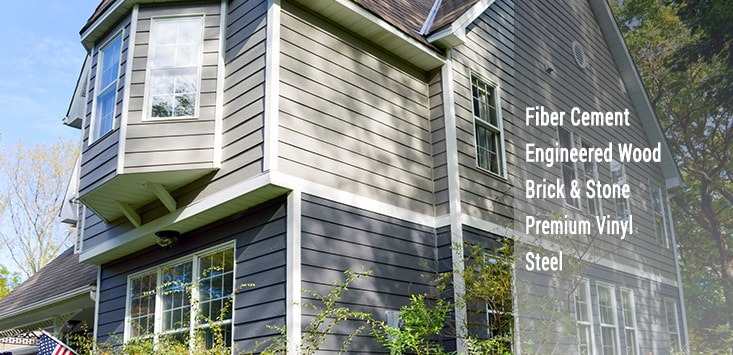 siding - fiber cement, wood, brick & stone, vinyl, steel