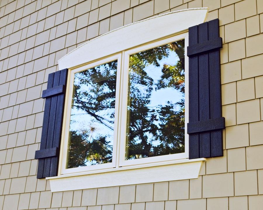 New Marvin windows with custom trim