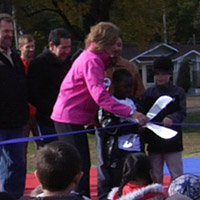 HWC Donates Basketball Court To Elementary School