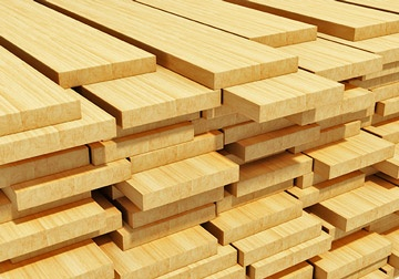 stacks of wooden timber planks