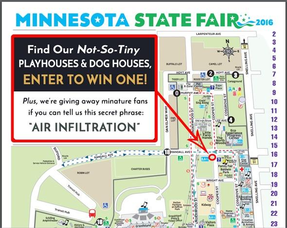 MN State Fair Map - Hoffman Weber booth