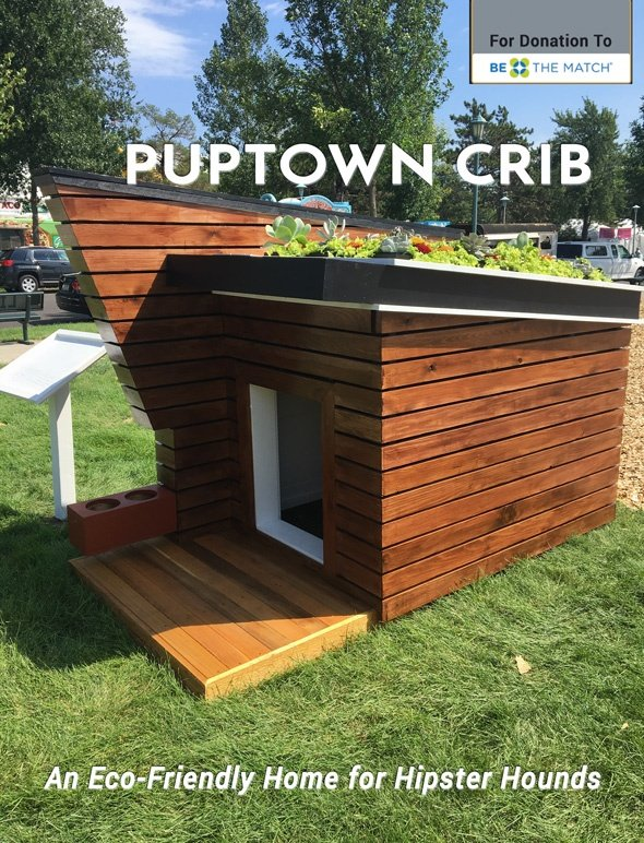 PUP-Town Crib - An eco-friendly home for hipster hounds