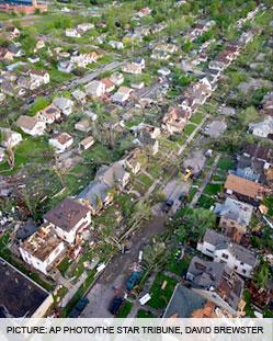 Minneapolis Tornado & Hail Damage
