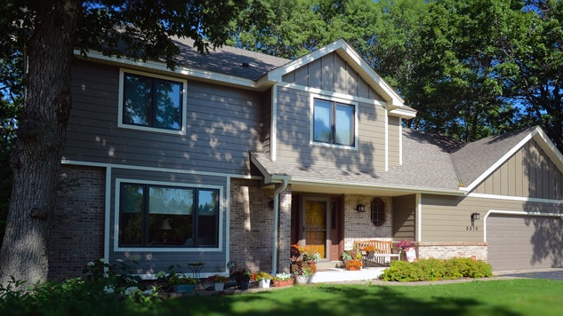 Hardie lap siding Marvin home windows