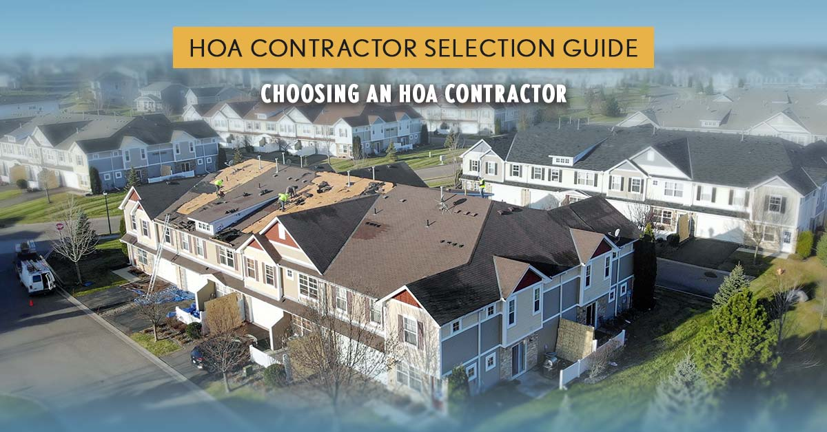 HOA Contractor Selection Guide - How to Hire the Right Contractor