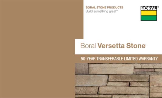 Versetta Stone Limited Warranty Brochure