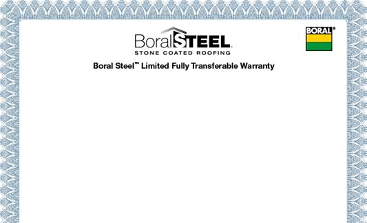 Boral Roofing Steel Limited Warranty Brochure