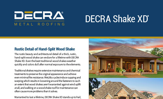 DECRA Roofing Shake XD Brochure