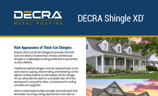 DECRA Roofing Shingle XD Brochure