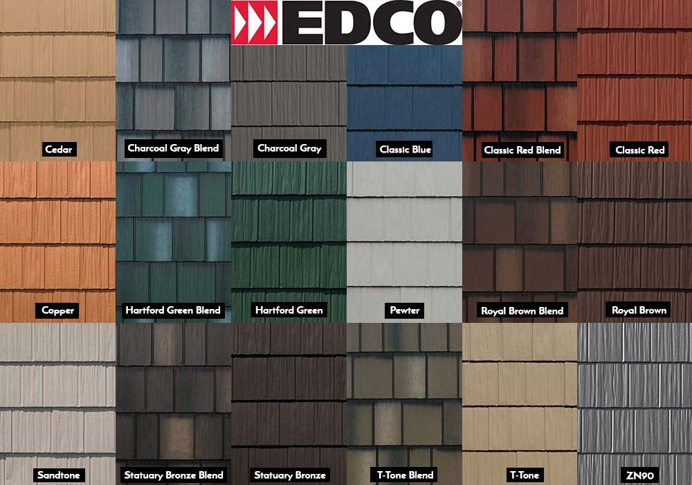 EDCO Roofing ArrowLine Shake Swatches