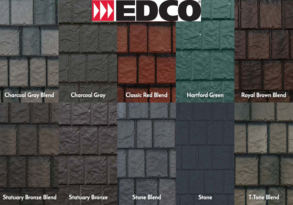 EDCO Roofing ArrowLine Slate Swatches