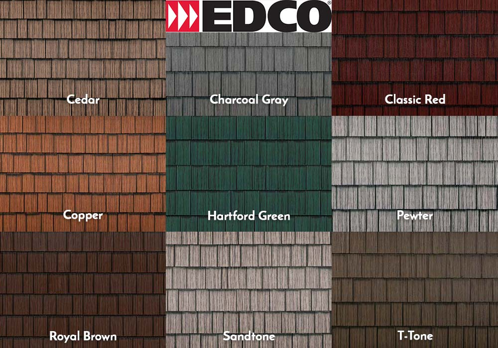 EDCO Roofing Generations HD Swatches