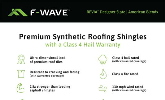 F-Wave Roofing REVIA Designer Slate American Blends Product Brochure Thumb