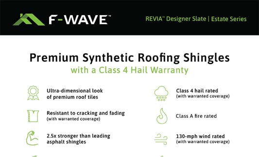 F-Wave Roofing REVIA Designer Slate Estate Series Product Brochure Thumb