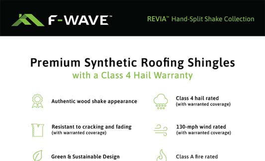 F-Wave Roofing REVIA Hand Split Shake Product Brochure Thumb
