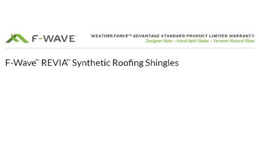 F-Wave Roofing Weatherforce Advantage Standard Product Limited Warranty Brochure Thumb