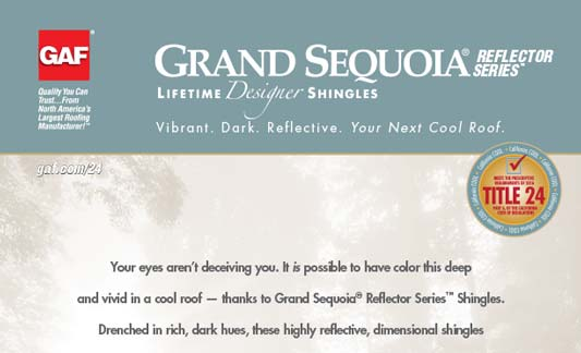 GAF Roofing Grand Sequoia Reflector Series Brochure