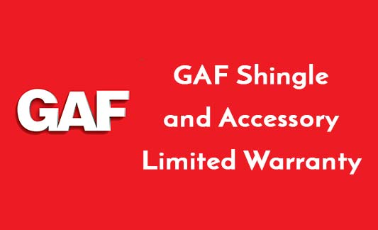 GAF Roofing Shingle and Accessory Limited Warranty Brochure