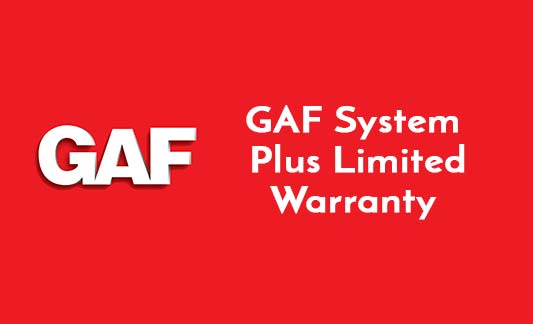 GAF Roofing System Plus Limited Warranty Brochure