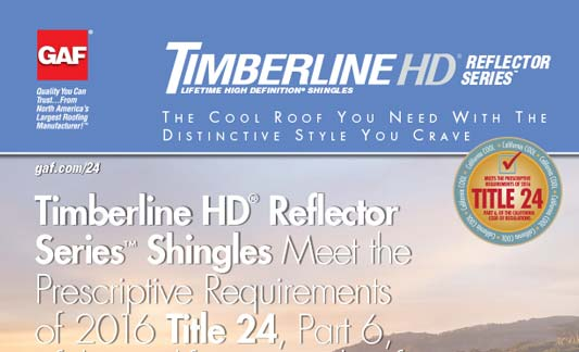 GAF Roofing Timberline HD Reflector Series Brochure