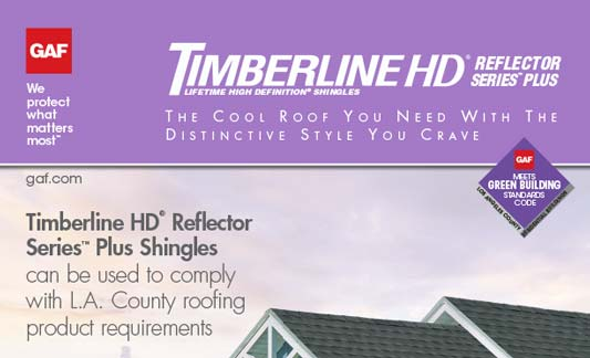 GAF Roofing Timberline HD Reflector Series Plus Brochure
